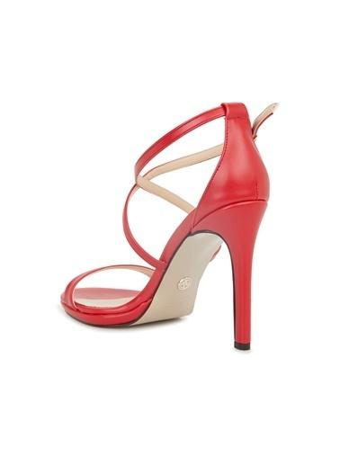 Divarese Divarese 5025373 Topuklu Kadın Sandalet Kırmızı